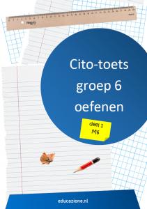 Cito-toets Groep 6 Oefenen Deel 1 M6